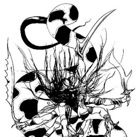 <small><center>Marilita, en un dibujo de <a href=