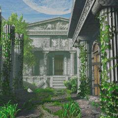 Entrada Principal al Orfanato (en el pasado)