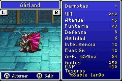 Estadisticas Garland