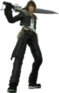 Squall Dissidia CG render
