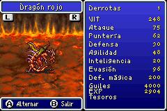 Estadisticas Dragon Rojo