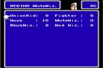 Pantalla de Seleccion de Trabajo FFIII NES