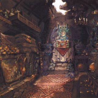 Ilustración de una de las habitaciones reales