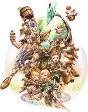 Batalla de Final Fantasy Crystal Chronicles