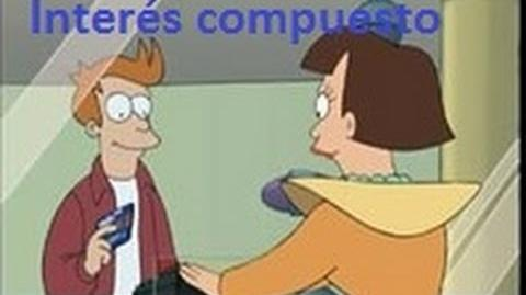 Interés compuesto. Futurama- cómo Fry se hace rico