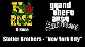"GTA San Andreas - K-Rose Statler Brothers - ""New York City"""