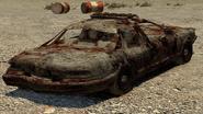 Coche de policia destruido GTA IV