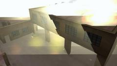 El almacén explotando
