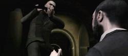 Luis golpeando a mori