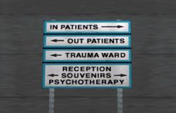 Cartel del hospital