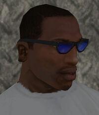 Gafas tinta azul