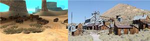 Comparación del despoblado