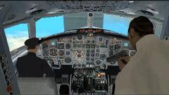 Avion a punto de chocar