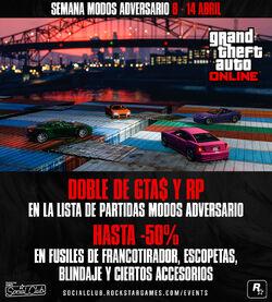 GTA Online - Semana Modos Adversario - Imagen Promocional