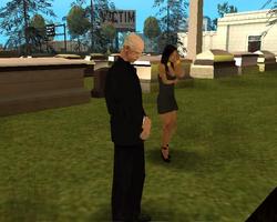 Predicador en el funeral