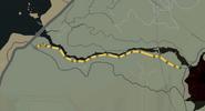 Trayecto carrera sendero del valle