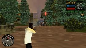 Toni disparando contra los colombianos