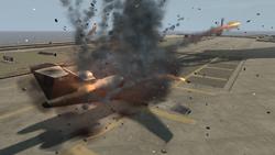 Jet explotando Bang Bang