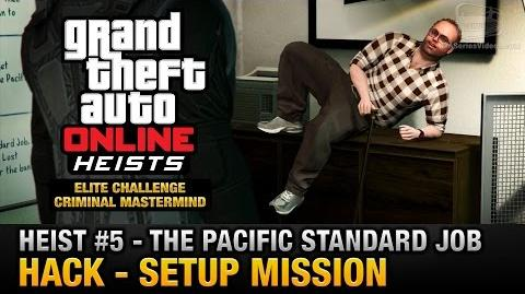 GTA Online Heist 5 - The Pacific Standard Job - Hack (Criminal Mastermind)