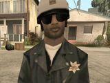 Policía en moto de San Andreas