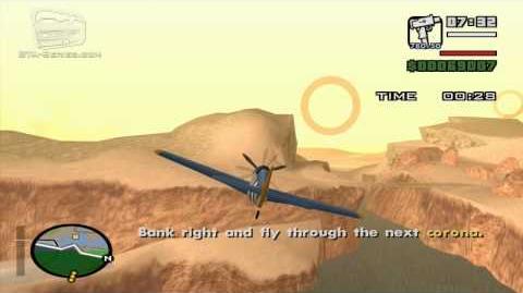 GTA San Andreas - Pilot School 4 - Circle Airstrip and Land (HD)