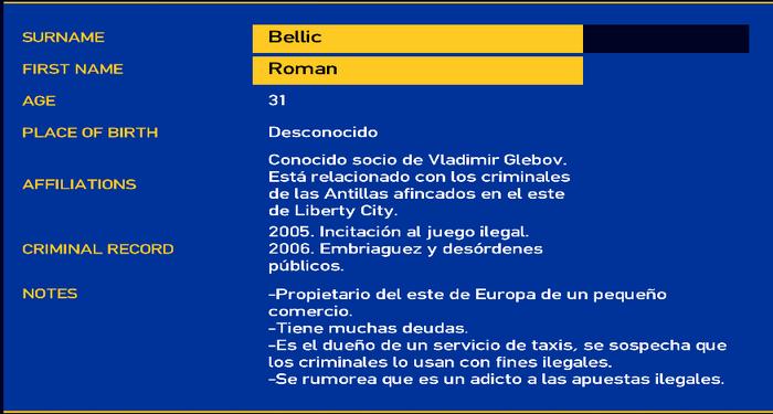 Roman bellic LCPD