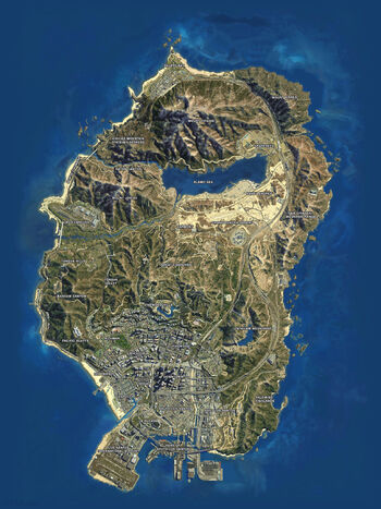 San andreas vista satelital