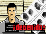 Imagen de Mike areetsando en Grand Theft Auto Advance