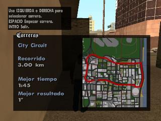 Mapa del recorrido de City Circuit