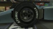 Atomic en los neumáticos de los Formula 1