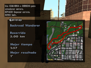 Mapa del recorrido de Backroad Wanderer