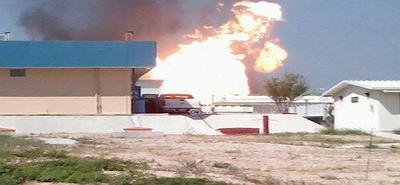 Explosión carretera