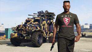 Jugador Online con la camiseta de Coil GTA Online