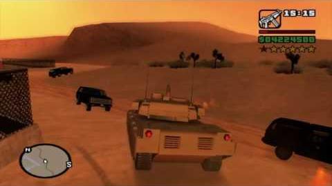 Gta San Andreas Trofeo Lo que necesita la ciudad (Vigilante) Localización tanque