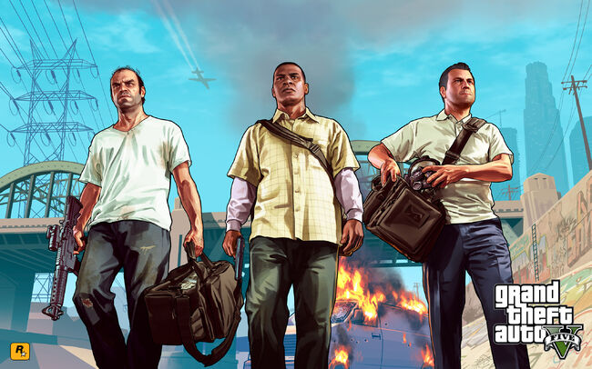 Official Gta V Artwork Trevor, Franklin, Michael
