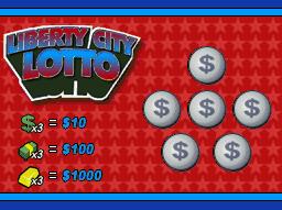 Billete Liberty City Lotto