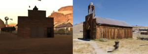 Comparación estación de bomberos