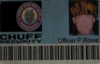 Chuff Security Co. tarjeta
