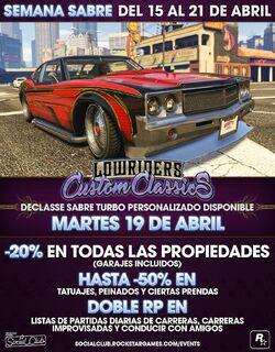 GTA Online - Semana Sabre Turbo Personalizado - Imagen Promocional