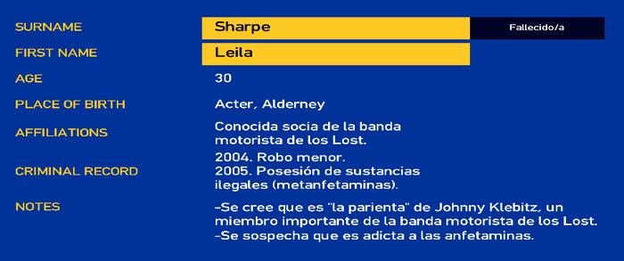 Leila Sharpe LCPD