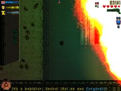 El laboratorio explotando