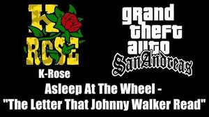 "GTA San Andreas - K-Rose Asleep At The Wheel - ""The Letter That Johnny Walker Read"""