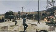Parque eolico visto en el Gameplay de GTA Online
