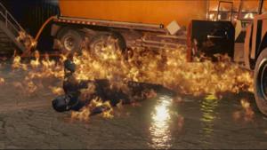Trevor en llamas