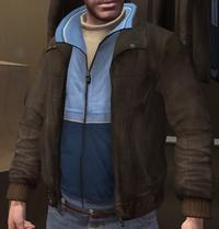 Chupa cuero y chaqueta chándal azul GTA IV
