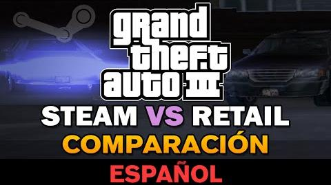 GTA 3 - PC VS Retail Comparación