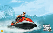 GTA V Michael Jetski Artwork