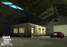 Interior del garage de doherty