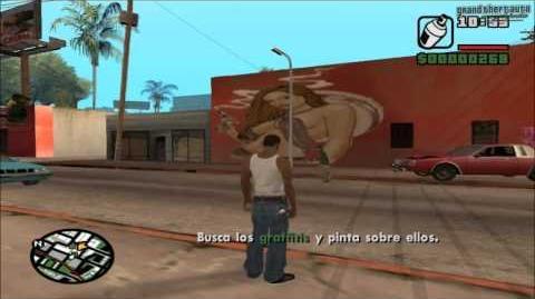 GTA San Andreas - Tagging up Turf