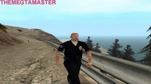 GTA San Andreas Mision 29 Beta Badlands Muerte del Oficial Carver